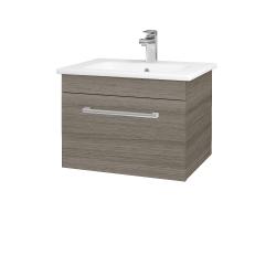 Dřevojas - Koupelnová skříň ASTON SZZ 60 - D03 Cafe / Úchytka T03 / D03 Cafe (131258C)