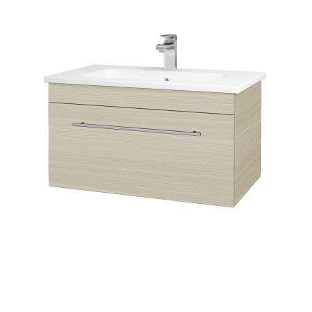 Dřevojas - Koupelnová skříň ASTON SZZ 80 - D04 Dub / Úchytka T02 / D04 Dub (131333B)