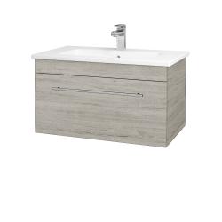 Dřevojas - Koupelnová skříň ASTON SZZ 80 - D05 Oregon / Úchytka T02 / D05 Oregon (131340B)