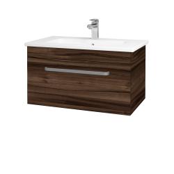 Dřevojas - Koupelnová skříň ASTON SZZ 80 - D06 Ořech / Úchytka T01 / D06 Ořech (131357A)