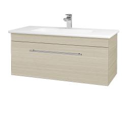 Dřevojas - Koupelnová skříň ASTON SZZ 100 - D04 Dub / Úchytka T02 / D04 Dub (131401B)