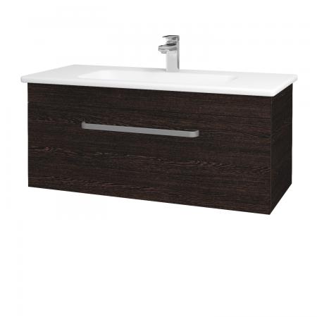 Dřevojas - Koupelnová skříň ASTON SZZ 100 - D08 Wenge / Úchytka T01 / D08 Wenge (131432A)