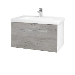 Dřevojas - Koupelnová skříň BIG INN SZZ 80 - N01 Bílá lesk / Úchytka T03 / D01 Beton (127879C)