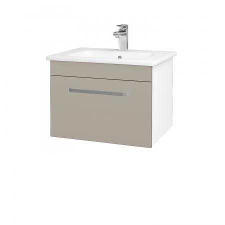 Dřevojas - Koupelnová skříň ASTON SZZ 60 - N01 Bílá lesk / Úchytka T01 / L04 Béžová vysoký lesk (108557A)