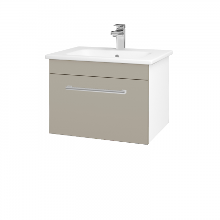 Dřevojas - Koupelnová skříň ASTON SZZ 60 - N01 Bílá lesk / Úchytka T03 / L04 Béžová vysoký lesk (108557C)