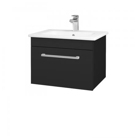 Dřevojas - Koupelnová skříň ASTON SZZ 60 - L03 Antracit vysoký lesk / Úchytka T03 / L03 Antracit vysoký lesk (108694C)