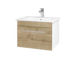 Dřevojas - Koupelnová skříň ASTON SZZ 60 - N01 Bílá lesk / Úchytka T02 / D09 Arlington (108502B)