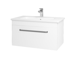 Dřevojas - Koupelnová skříň ASTON SZZ 80 - N01 Bílá lesk / Úchytka T01 / L01 Bílá vysoký lesk (137526A)