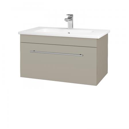 Dřevojas - Koupelnová skříň ASTON SZZ 80 - L04 Béžová vysoký lesk / Úchytka T02 / L04 Béžová vysoký lesk (109011B)