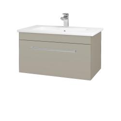 Dřevojas - Koupelnová skříň ASTON SZZ 80 - L04 Béžová vysoký lesk / Úchytka T03 / L04 Béžová vysoký lesk (109011C)