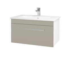 Dřevojas - Koupelnová skříň ASTON SZZ 80 - N01 Bílá lesk / Úchytka T03 / L04 Béžová vysoký lesk (108861C)