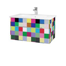 Dřevojas - Koupelnová skříň ASTON SZZ 80 - IND Individual / Úchytka T02 / IND Individual (109028B)