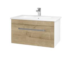 Dřevojas - Koupelnová skříň ASTON SZZ 80 - N01 Bílá lesk / Úchytka T01 / D09 Arlington (108816A)