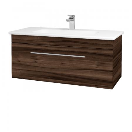 Dřevojas - Koupelnová skříň ASTON SZZ 100 - D06 Ořech / Úchytka T02 / D06 Ořech (131425B)