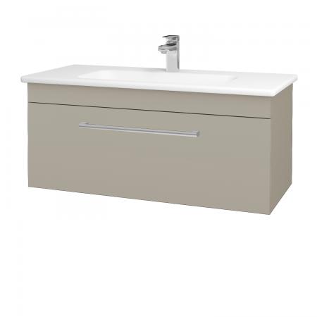 Dřevojas - Koupelnová skříň ASTON SZZ 100 - L04 Béžová vysoký lesk / Úchytka T03 / L04 Béžová vysoký lesk (109325C)