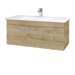 Dřevojas - Koupelnová skříň ASTON SZZ 100 - D09 Arlington / Úchytka T02 / D09 Arlington (109271B)