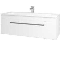 Dřevojas - Koupelnová skříň ASTON SZZ 120 - N01 Bílá lesk / Úchytka T01 / L01 Bílá vysoký lesk (131593A)
