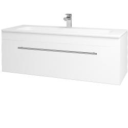 Dřevojas - Koupelnová skříň ASTON SZZ 120 - N01 Bílá lesk / Úchytka T02 / L01 Bílá vysoký lesk (131593B)
