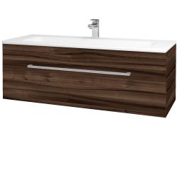 Dřevojas - Koupelnová skříň ASTON SZZ 120 - D06 Ořech / Úchytka T03 / D06 Ořech (131494C)