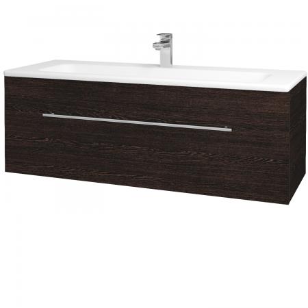 Dřevojas - Koupelnová skříň ASTON SZZ 120 - D08 Wenge / Úchytka T02 / D08 Wenge (131500B)