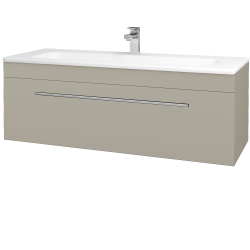 Dřevojas - Koupelnová skříň ASTON SZZ 120 - L04 Béžová vysoký lesk / Úchytka T02 / L04 Béžová vysoký lesk (109639B)