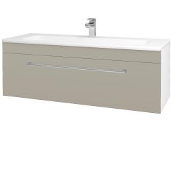 Dřevojas - Koupelnová skříň ASTON SZZ 120 - N01 Bílá lesk / Úchytka T03 / L04 Béžová vysoký lesk (109486C)