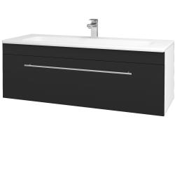 Dřevojas - Koupelnová skříň ASTON SZZ 120 - N01 Bílá lesk / Úchytka T02 / L03 Antracit vysoký lesk (131586B)