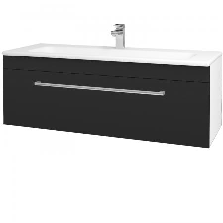 Dřevojas - Koupelnová skříň ASTON SZZ 120 - N01 Bílá lesk / Úchytka T03 / L03 Antracit vysoký lesk (131586C)