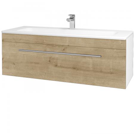 Dřevojas - Koupelnová skříň ASTON SZZ 120 - N01 Bílá lesk / Úchytka T02 / D09 Arlington (109431B)