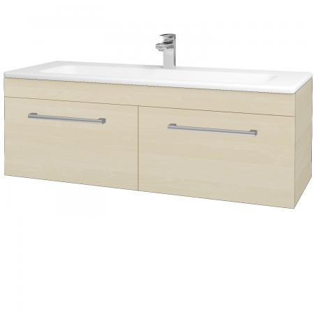 Dřevojas - Koupelnová skříň ASTON SZZ2 120 - D02 Bříza / Úchytka T03 / D02 Bříza (131524C)