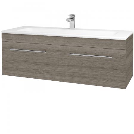 Dřevojas - Koupelnová skříň ASTON SZZ2 120 - D03 Cafe / Úchytka T02 / D03 Cafe (131531B)