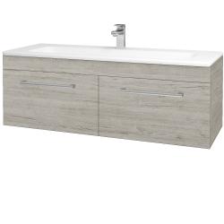 Dřevojas - Koupelnová skříň ASTON SZZ2 120 - D05 Oregon / Úchytka T03 / D05 Oregon (131555C)