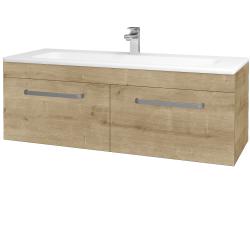 Dřevojas - Koupelnová skříň ASTON SZZ2 120 - D09 Arlington / Úchytka T01 / D09 Arlington (146900A)