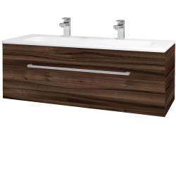 Dřevojas - Koupelnová skříň ASTON SZZ 120 - D06 Ořech / Úchytka T03 / D06 Ořech (131494CU)