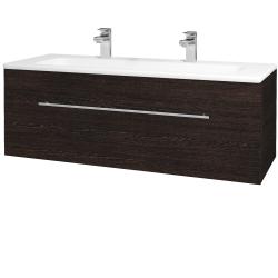 Dřevojas - Koupelnová skříň ASTON SZZ 120 - D08 Wenge / Úchytka T02 / D08 Wenge (131500BU)