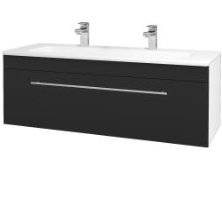 Dřevojas - Koupelnová skříň ASTON SZZ 120 - N01 Bílá lesk / Úchytka T02 / L03 Antracit vysoký lesk (131586BU)