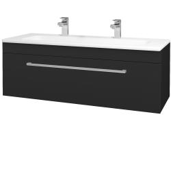 Dřevojas - Koupelnová skříň ASTON SZZ 120 - L03 Antracit vysoký lesk / Úchytka T03 / L03 Antracit vysoký lesk (109622CU)