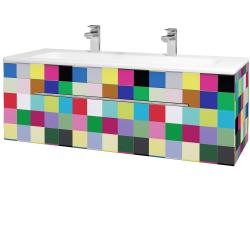 Dřevojas - Koupelnová skříň ASTON SZZ 120 - IND Individual / Úchytka T02 / IND Individual (109646BU)