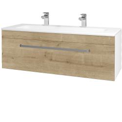 Dřevojas - Koupelnová skříň ASTON SZZ 120 - N01 Bílá lesk / Úchytka T01 / D09 Arlington (109431AU)