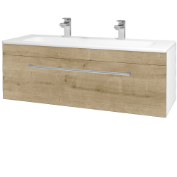 Dřevojas - Koupelnová skříň ASTON SZZ 120 - N01 Bílá lesk / Úchytka T03 / D09 Arlington (109431CU)