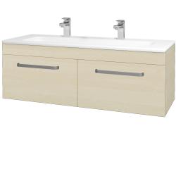 Dřevojas - Koupelnová skříň ASTON SZZ2 120 - D02 Bříza / Úchytka T01 / D02 Bříza (131524AU)
