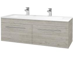 Dřevojas - Koupelnová skříň ASTON SZZ2 120 - D05 Oregon / Úchytka T02 / D05 Oregon (131555BU)