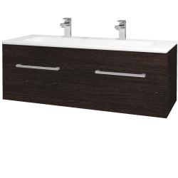 Dřevojas - Koupelnová skříň ASTON SZZ2 120 - D08 Wenge / Úchytka T03 / D08 Wenge (131579CU)