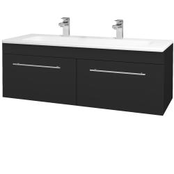Dřevojas - Koupelnová skříň ASTON SZZ2 120 - L03 Antracit vysoký lesk / Úchytka T02 / L03 Antracit vysoký lesk (146955BU)