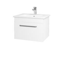 Dřevojas - Koupelnová skříň ASTON SZZ 60 - N01 Bílá lesk / Úchytka T01 / M01 Bílá mat (199197A)