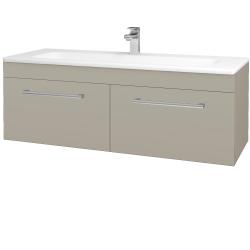 Dřevojas - Koupelnová skříň ASTON SZZ2 120 - M05 Béžová mat / Úchytka T03 / M05 Béžová mat (200251C)