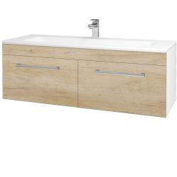 Dřevojas - Koupelnová skříň ASTON SZZ2 120 - N01 Bílá lesk / Úchytka T03 / D15 Nebraska (173999C)