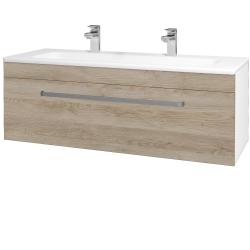 Dřevojas - Koupelnová skříň ASTON SZZ 120 - N01 Bílá lesk / Úchytka T01 / D17 Colorado (200114AU)