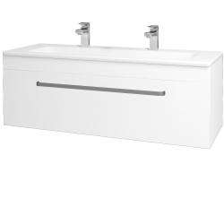 Dřevojas - Koupelnová skříň ASTON SZZ 120 - N01 Bílá lesk / Úchytka T01 / M01 Bílá mat (200121AU)