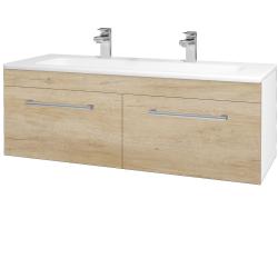 Dřevojas - Koupelnová skříň ASTON SZZ2 120 - N01 Bílá lesk / Úchytka T03 / D15 Nebraska (173999CU)